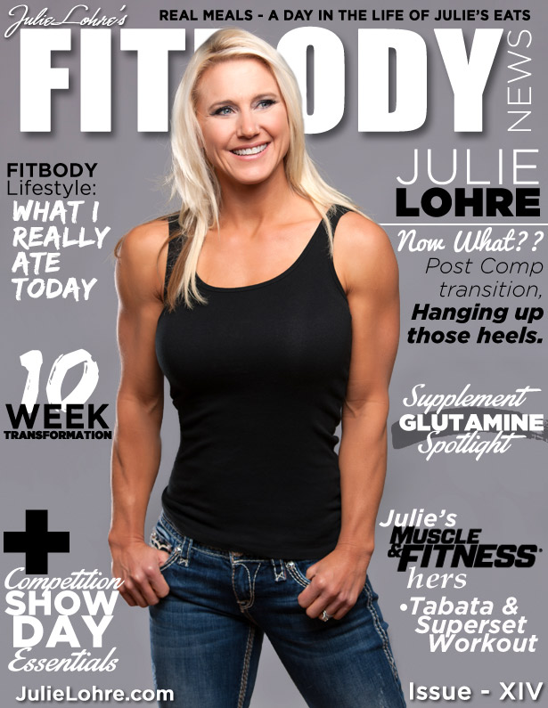 Julie Lohre FITBODY News Magazine Cover
