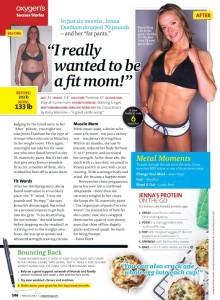 Julie Lohre FITBODY Profile Jenna Dunham Oxygen Magazine