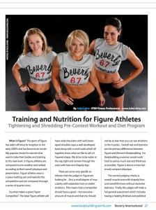 Julie Lohre FITBODY Profile Kyla Bowron Beverly International No Nonsense Magazine