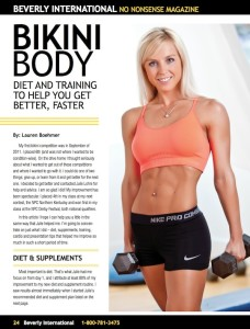 Julie Lohre FITBODY Profile Lauren Boehmer No Nonsense Magazine Beverly International