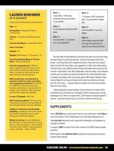 Julie Lohre FITBODY Profile Lauren Boehmer No Nonsense Magazine Beverly International