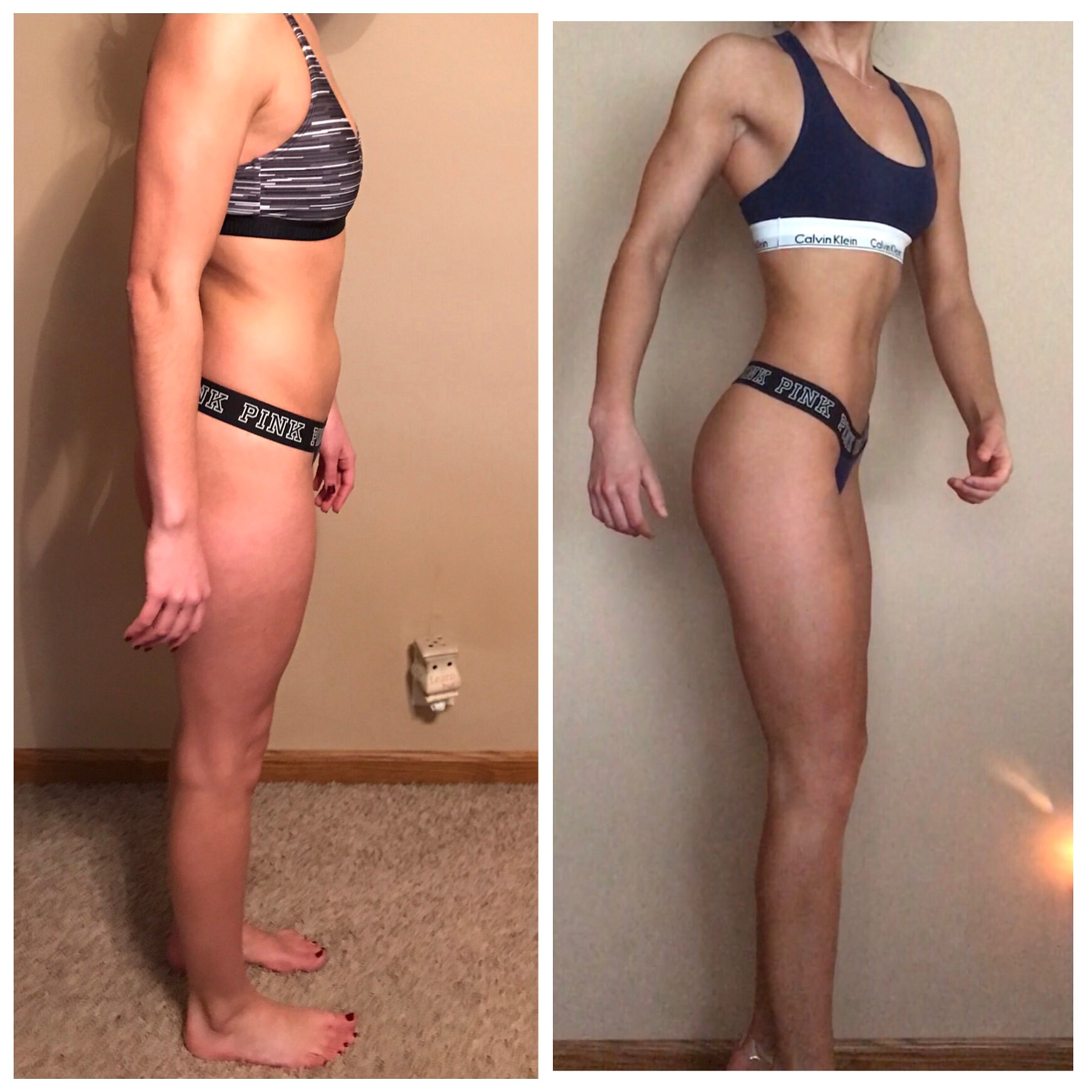 Online Training Before and After Side View