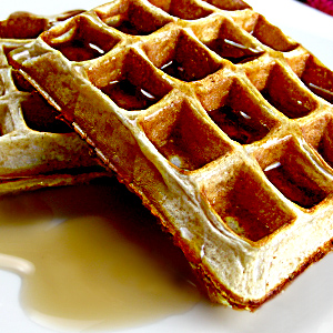 Protein Powder Buckwheat Waffles