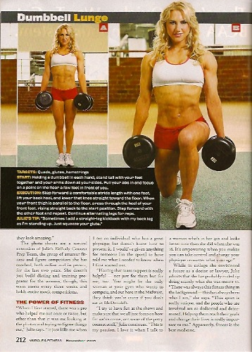 Muscle & Fitness Feature Story about Julie Lohre