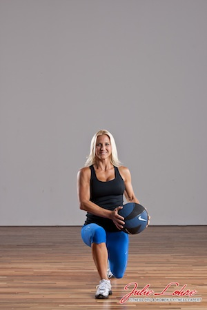 Med Ball Switch Lunges