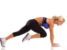 Plank Position Knee Drive