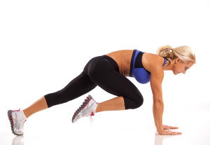 Plank Position Knee Drives Ab Workout