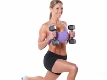 45 Degree Lunge with Curl