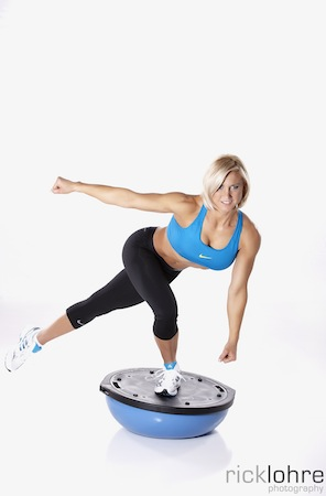 BOSU Single Leg Balance Squats