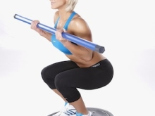 BOSU Squat Curls