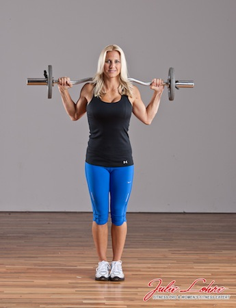 Barbell Curtsey Squat