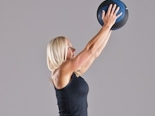 Med Ball 3 Way Squat Press
