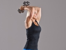 Two Arm Overhead Tricep Extensions