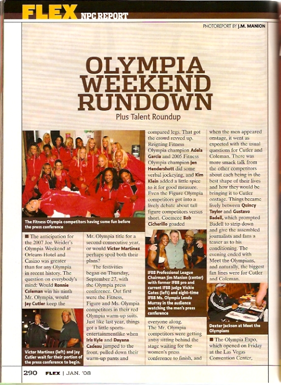 Flex Magazine IFBB Olympia Talent Roundup