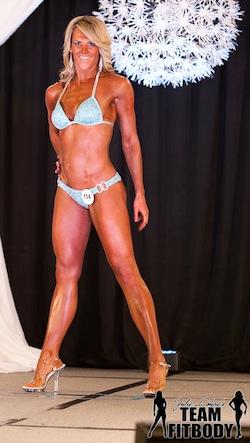 Julie Lohre FITBODY Profile Kristen Hayes NPC Derby Bikini