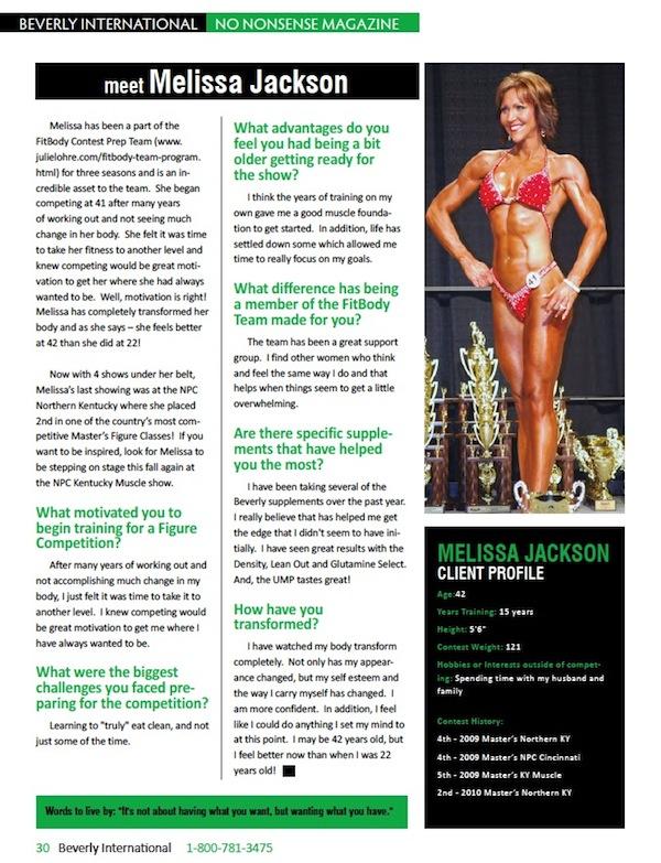 Julie Lohre Masters Figure No Nonsense Magazine