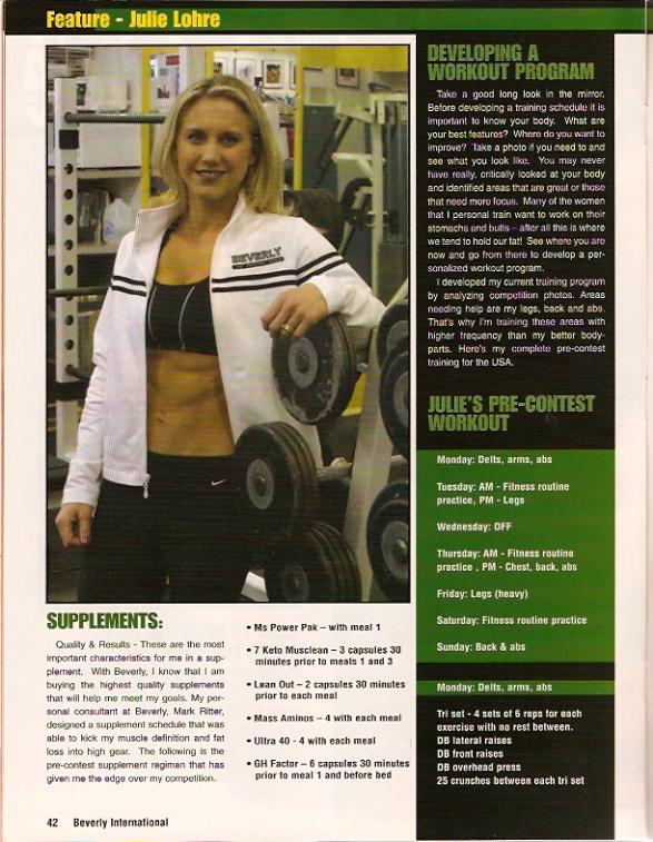Julie Lohre BodyMuscle Journal