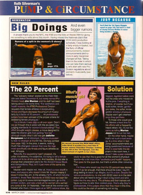 Julie Lohre IronMan IFBB Changes