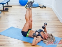 Lying Leg Raise with Dumbbell Press