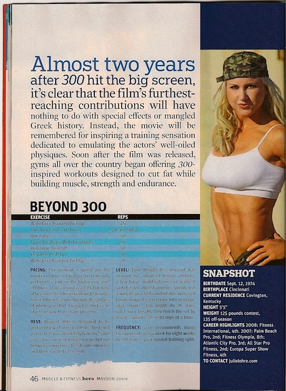 Muscle and Fitness - Beyond 300 Workout
