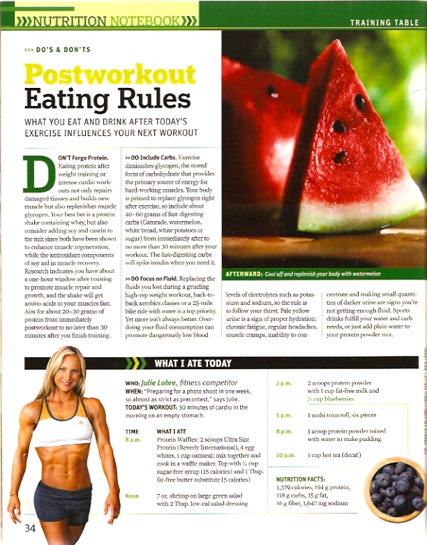 Muscle and Fitness Hers Nutrition