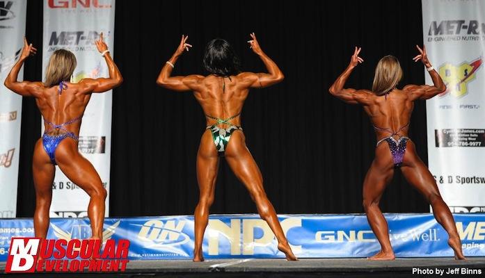 NPC Womens Physique Back Double Bicep