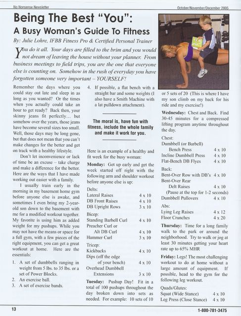 No Nonsense Magazine - Busy Woman's Guide to Fitness