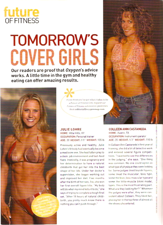 Julie Lohre Featured in Oxygen Magazine - Future of Fitness