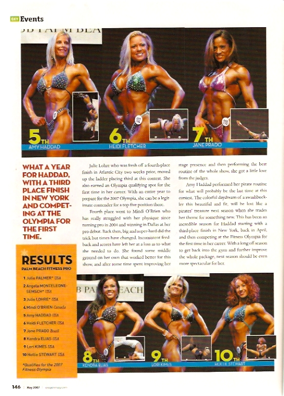 Oxygen Magazine West Palm Beach IFBB Pro Fitness