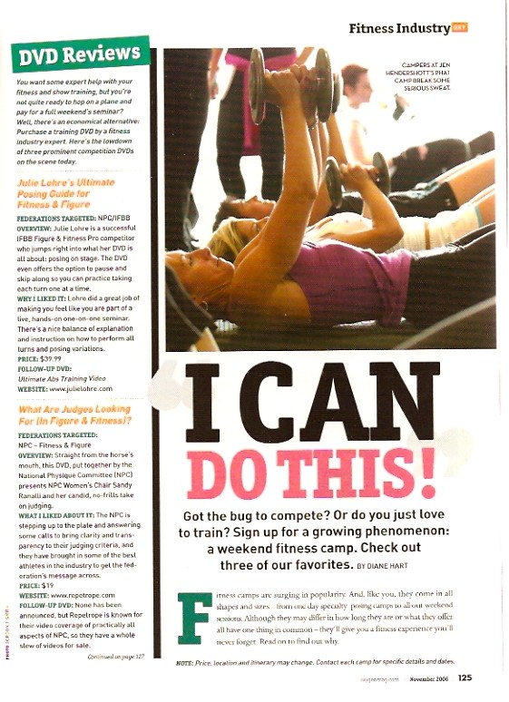 Oxygen Magazine - Julie Lohre's Fitness & Figure DVD Review