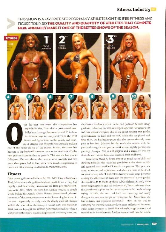 Oxygen Magazine - Europa IFBB Fitness