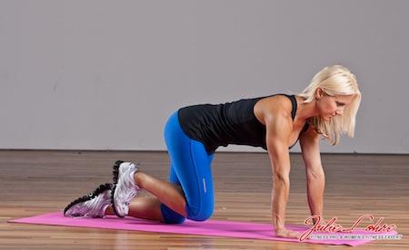 Pilates Side Knee Raise