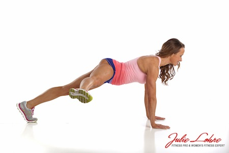 Plank with Side Leg Kick