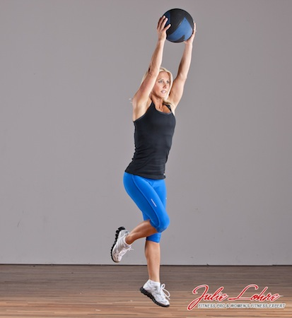 Single Leg Med Ball Burpee