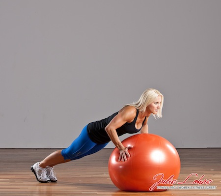 Stability Ball Burpees