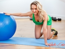 Stability Ball Chest Stretch