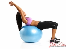 Ball Crunch Arms Over Head