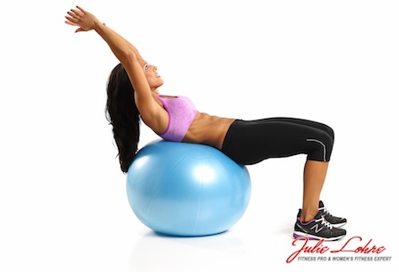 Ball Crunch Arms Over Head