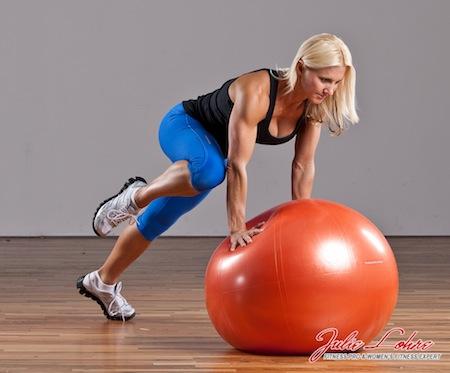 Ball Plank Knee Drive