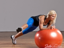Elbow Ball Plank Lateral Leg Lift