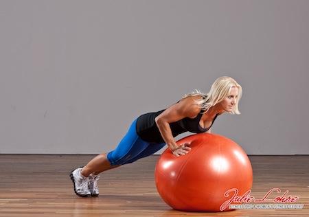 Ball Pushups