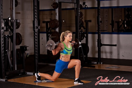 Barbell Lunge Pulses