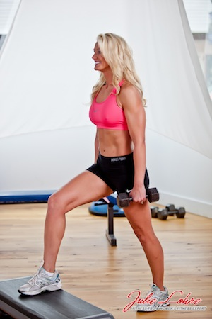 Elevated Stationary Lunge