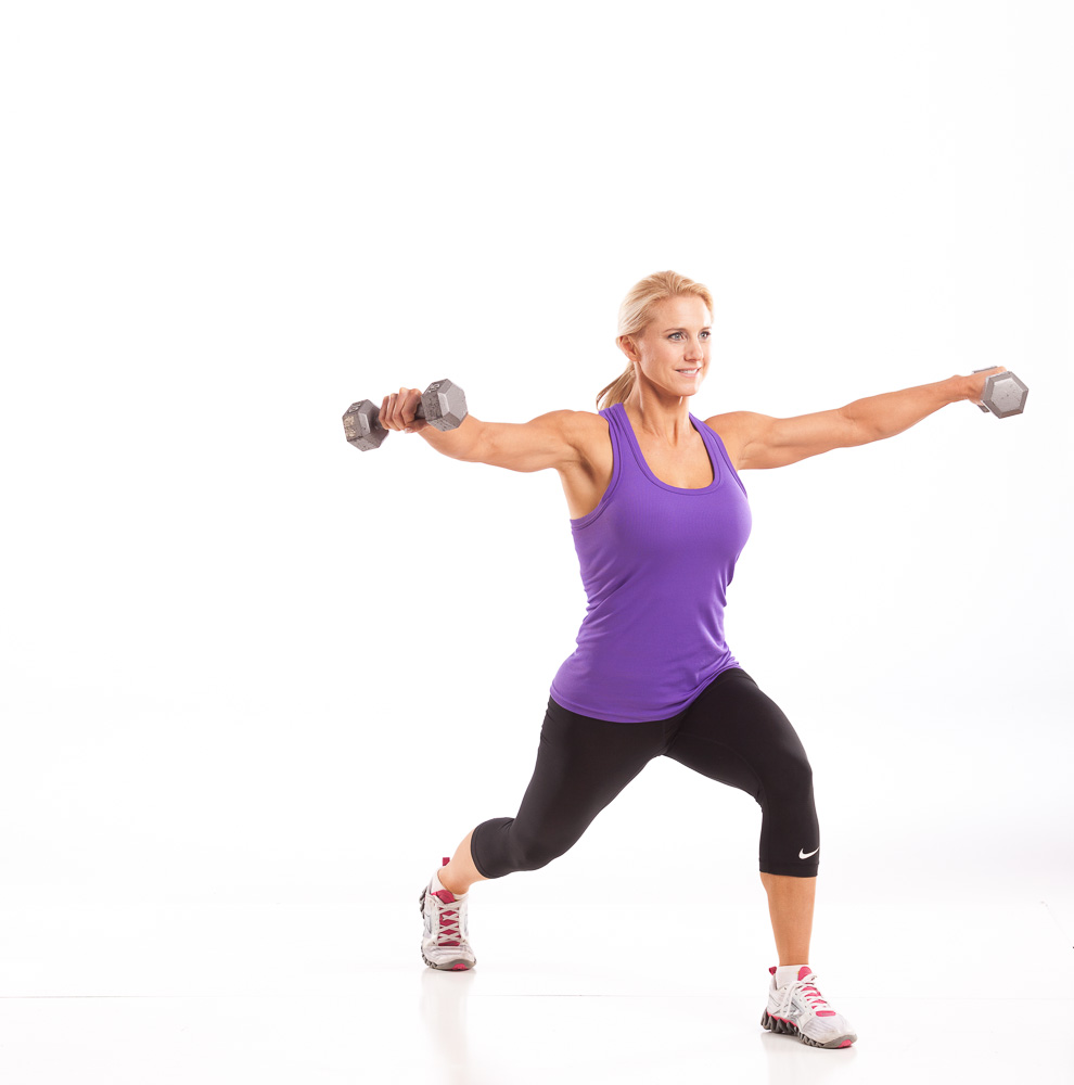 45 Degree Lunge Lateral Raise