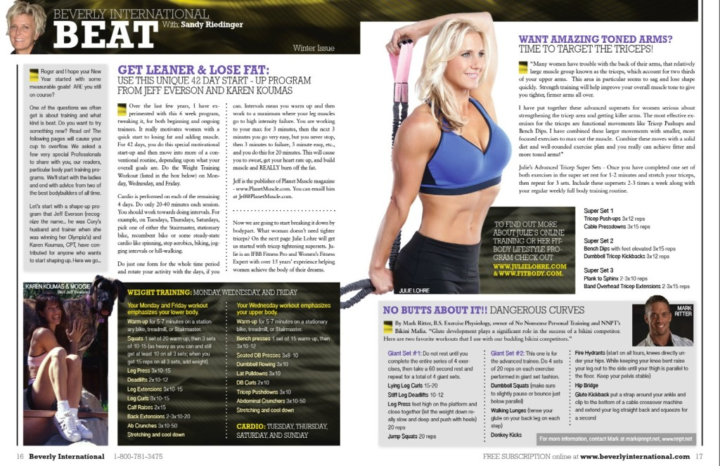 Julie Lohre's Tricep Tips Article