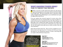 Julie Lohre's Tricep Tips in Beverly International's No Nonsense Magazine