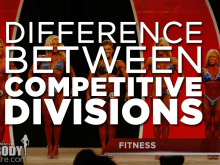 Difference between physique divisions