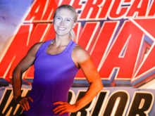 Julie Lohre competes in Season 6 of American Ninja Warrior