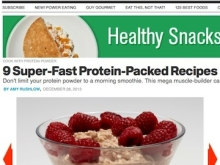 Julie Lohre's Protein Powder Recipes Featured in Men's Health!