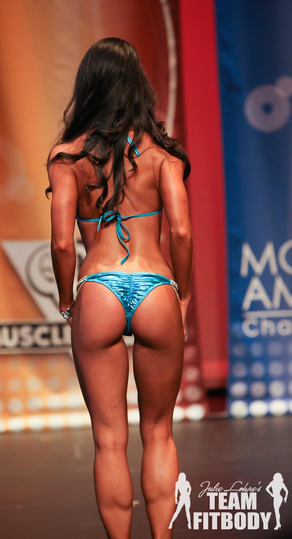 Chelsea Fugate Fitness America Ohio Valley Bikini Back Pose